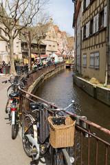Canal et vélos à Colmar