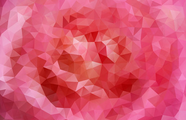 Rose made with triangles