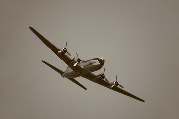 Vintage Aircraft in the Air
