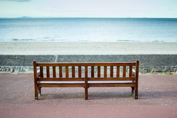 Bench Overlooking The Sea