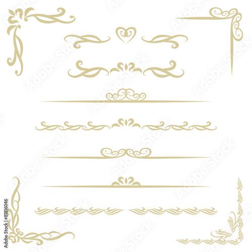 装飾フレームと罫線 / vector eps 10 - 81816046