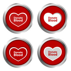 Donate Blood Buttons
