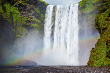 The waterfall in Iceland