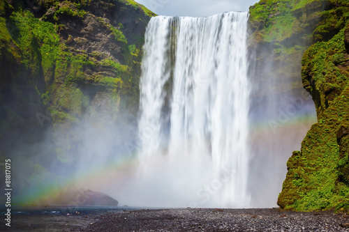 Plakat The waterfall in Iceland