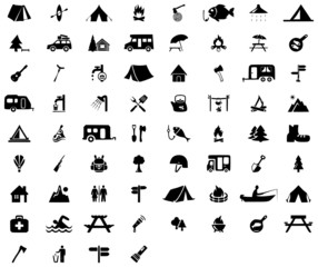 68 camping icons