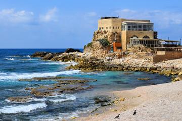 ancient port  in Caesarea Maritima