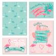 Flamingo wedding invitation cards - 81817883