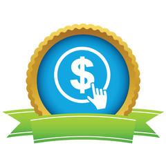 Gold dollar click logo