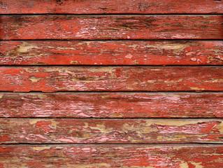 Старые доски, покрашенные красной краской