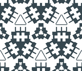 dark monochrome color angular abstract geometric seamless patter