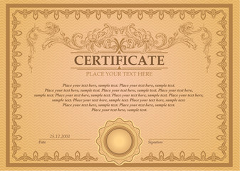 Certificate or coupon template