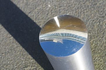 shiny street pole