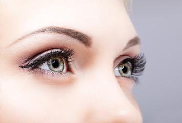 Close-up shot of female eyes