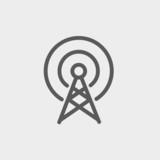 Antenna thin line icon