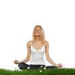 Yoga woman in lotus pose