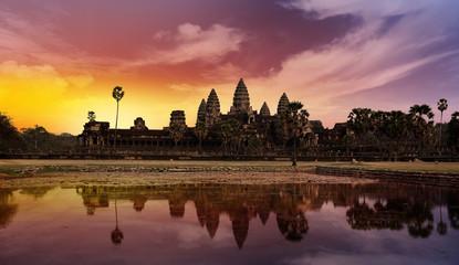 sunset at Angkor