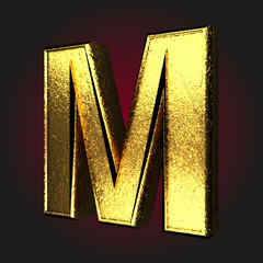 m letter of gold