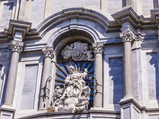 Italy, Sicily, Catania, Cathedral facade, built in XI century