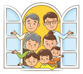 家族 窓 集合