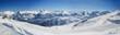 Leinwandbild Motiv 180° Panorama Silvretta Skigebiet Montafon Berggipfel