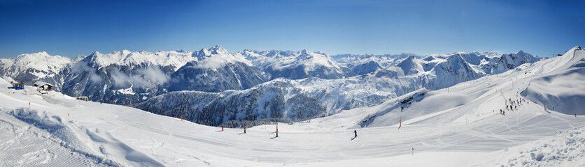 180° Panorama Silvretta Skigebiet Montafon Berggipfel