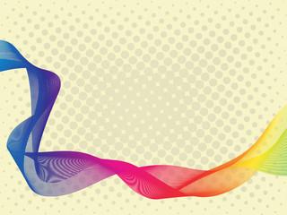 Abstract rainbow blend ribbon
