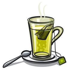 glass of green tea