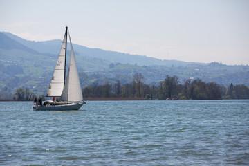 Segelboot bei Rapperswil