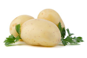 New potatoes and green parsley
