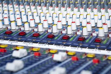 Audio Sound Mixer - Closeup Buttons