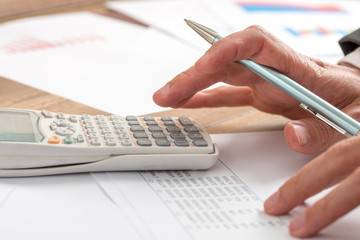 Accountant doing a calculation