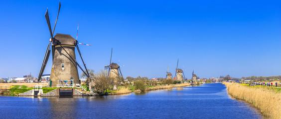 traditional Holland - Windmills in Kinderdijk