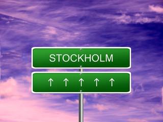 Stockholm City Sweden Sign