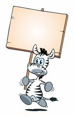 Mascot Zebra Running