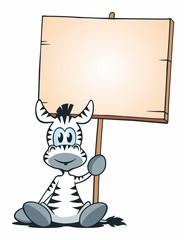 Mascot Zebra Sitting Board