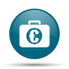 financial blue glossy web icon