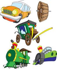 Разные виды транспортных средств использующих колесо