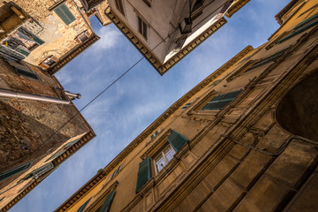 Looking up in a Italian village