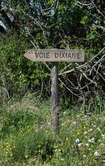 Panneau, voie Dixiane