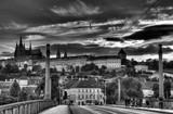 Summer panorama of Prague, Czech Republic