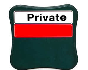 Plate Private with space for your design