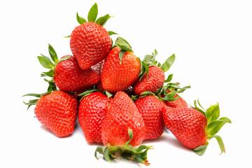 Strawberry isolated on white background closeup