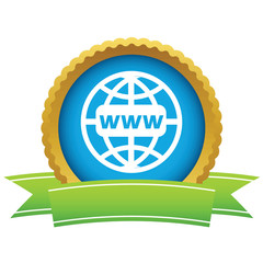 Gold www world logo
