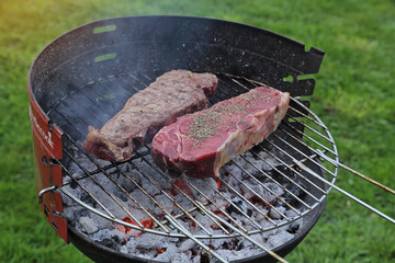 entrecôte au barbecue