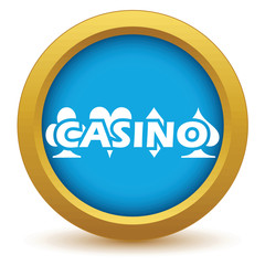 Gold casino icon