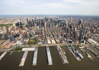 New York. Helicopter view of Manhattan