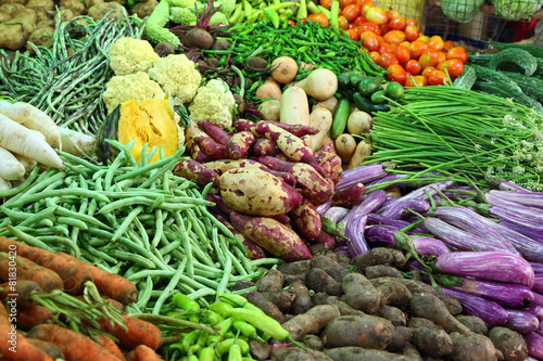 vegetables on market in india