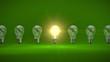 Glühbrinen Reihe grün - 81831844