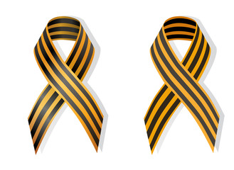 Orange and black ribbon ribbon awareness