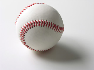 Baseball over white background